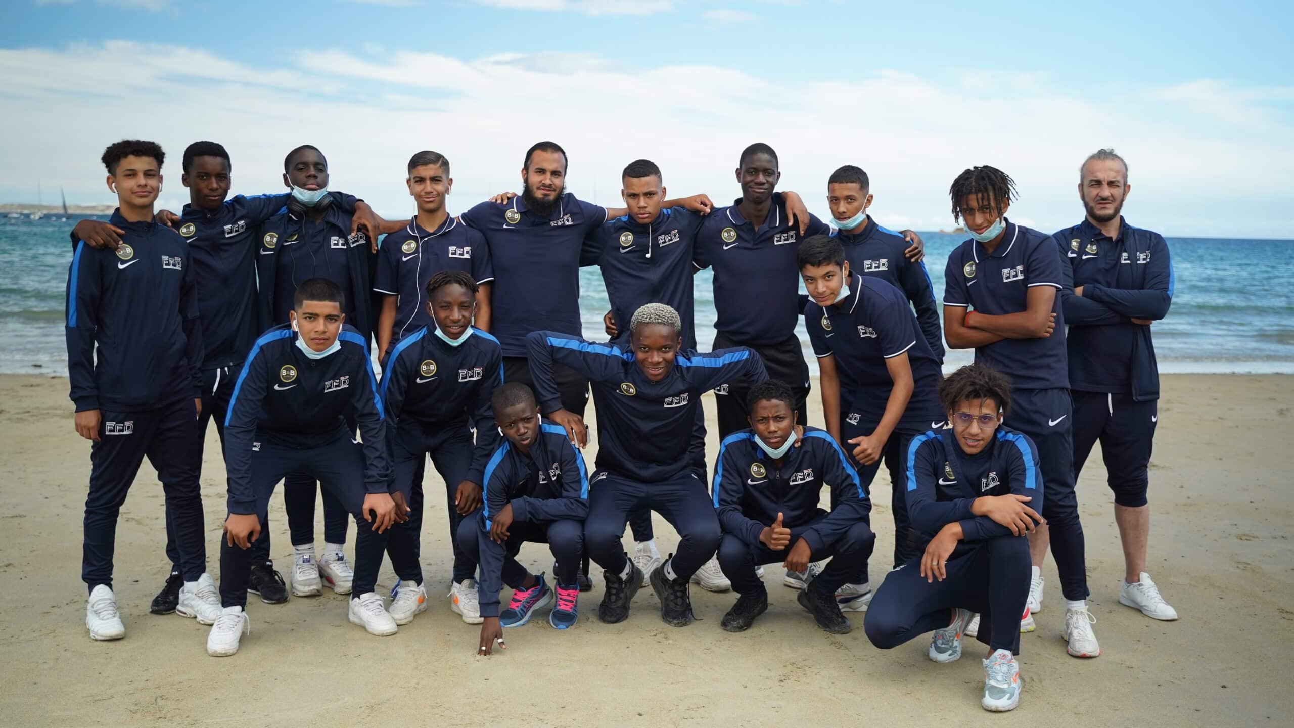 Sélection U16 en stage au Stade Brestois 29 après la phase finale de 2020